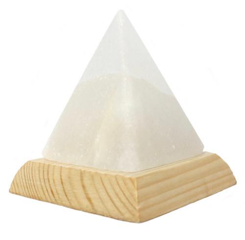 Pyramid White USB  Salt Lamp.