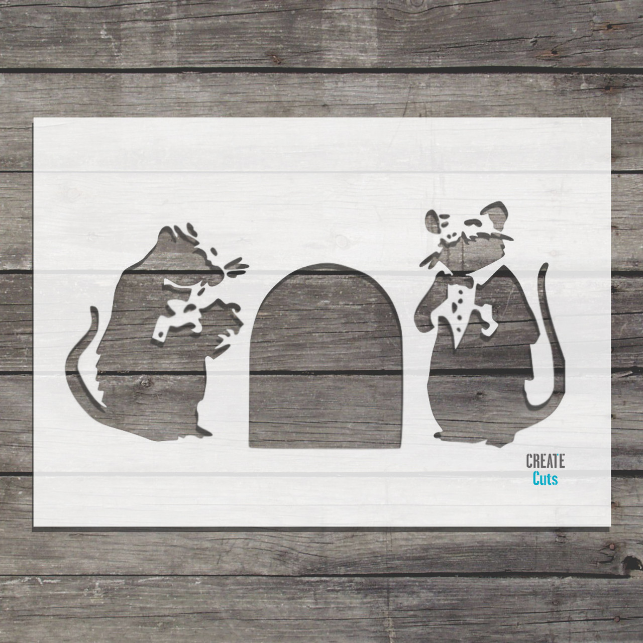 Banksy Red Carpet Rats Stencil