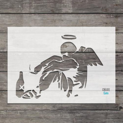 Banksy Fallen Angel stencil / famous street art picture