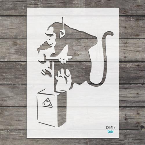 Banksy Monkey detonator street art cheap stencils create cuts template graffiti stencil