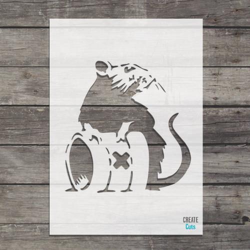 Banksy Toxic Rat Stencil street art cheap stencils create cuts template graffiti stencil