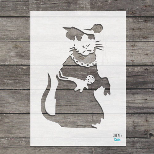 Banksy Singing Rat Stencil street art cheap stencils create cuts template graffiti stencil