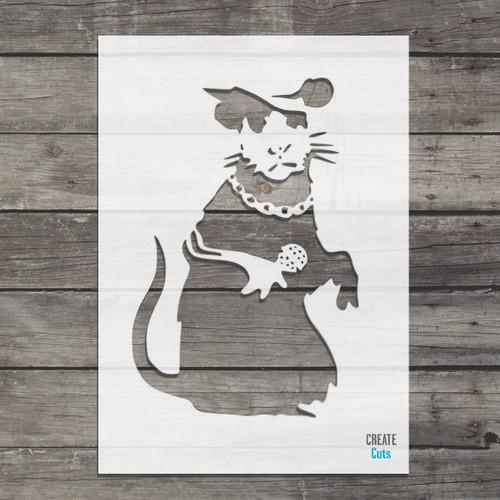 Banksy Singing Rat Stencil street art cheap stencils create cuts template graffiti stencil