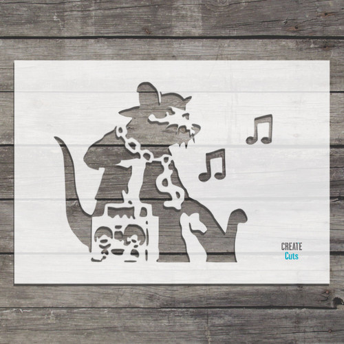 Banksy Ghetto Music Rat Stencil street art cheap stencils create cuts template graffiti stencil