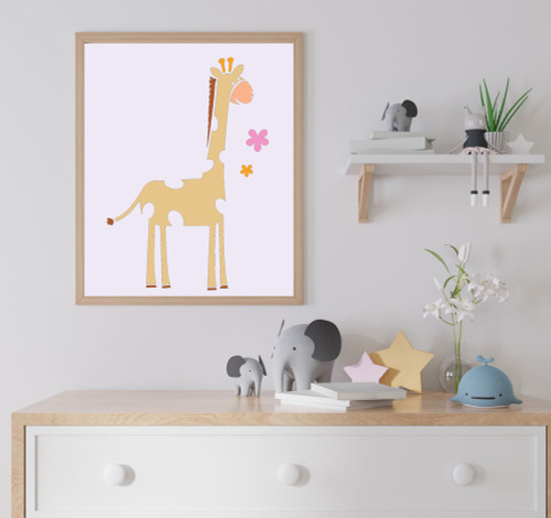 Giraffe stencil cute decor for nursery walls stencil giraffe with flowers