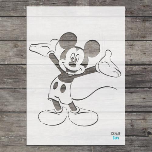 Disney Mickey mouse stencil nursery wall decor or great for art and crafts projects