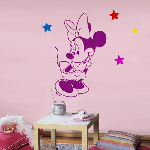 Disney Minnie Mouse stencil nursery wall decor or great for art and crafts projects