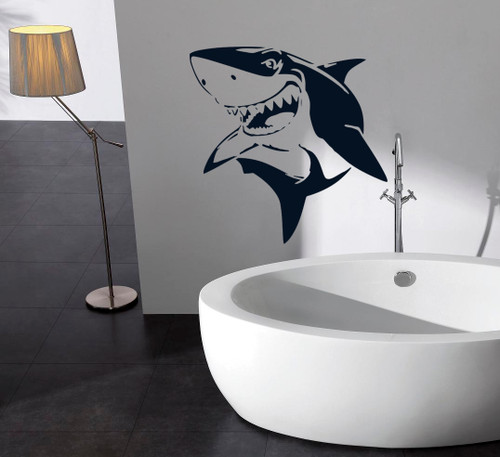 Shark stencil kids wall decoration or nursery wall decor and great for art and crafts projects
