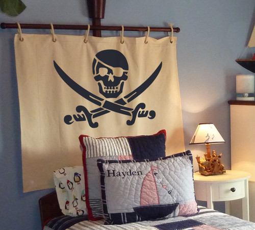 Pirate stencil kids wall decoration or nursery wall decor and great for art and crafts projects create nautical theme