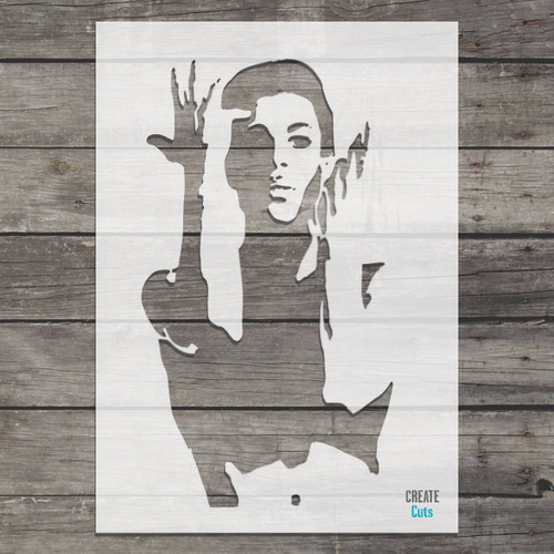 Prince the singer stencil