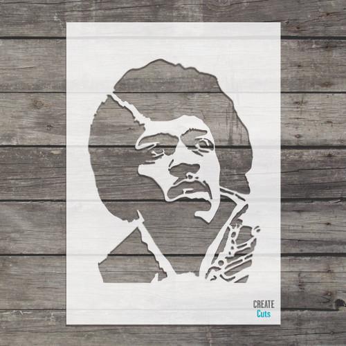 Jimi Hendrix stencil famous American guitarist