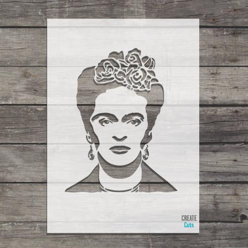 Frida Kahlo stencil Mexican artist painter