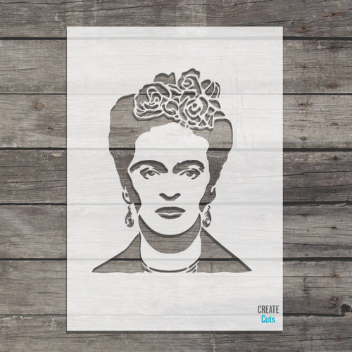Frida Kahlo stencil Mexican artist painter