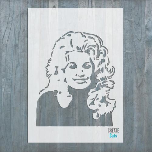 Dolly Parton American singer stencil