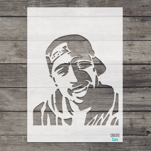 Tupac Shakur 2Pac Makaveli stencil