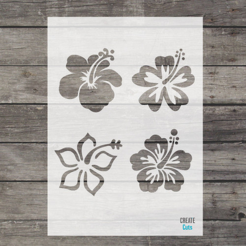 Hibiscus Flower Stencil Set of 4