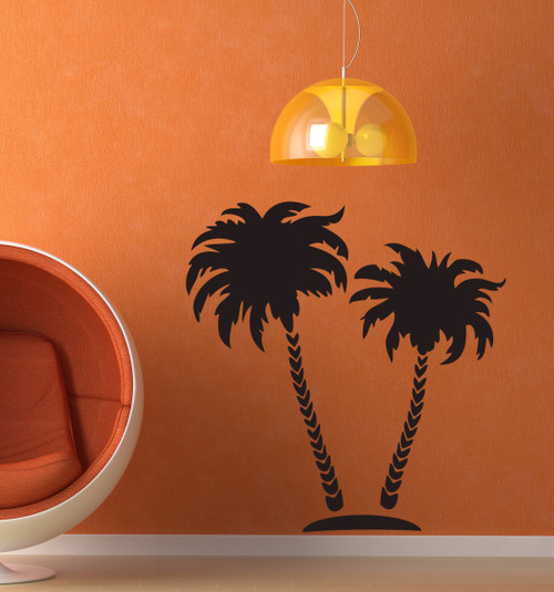 Large Palm Tree stencil on the wall
