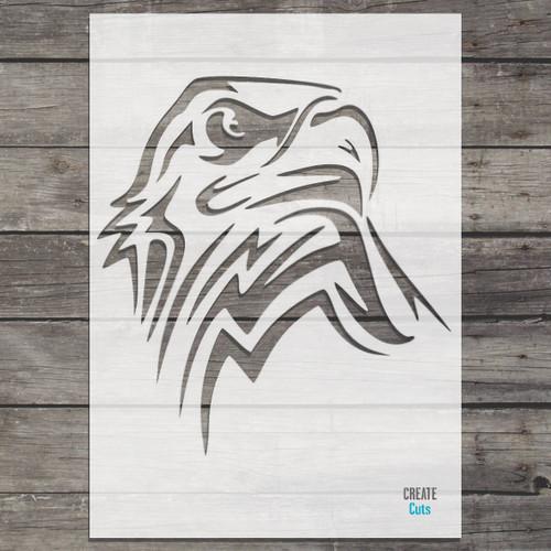 American Eagle Head Stencil