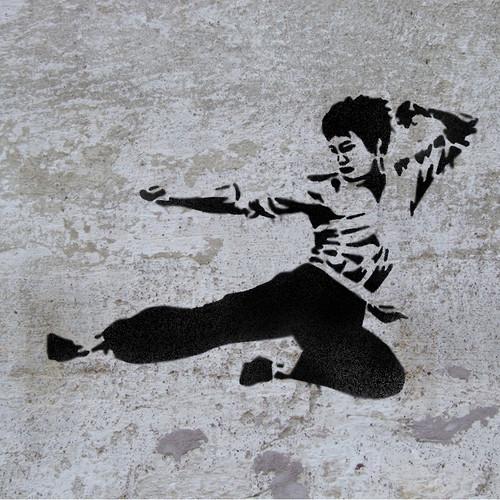 Bruce Lee Martial art stencil
