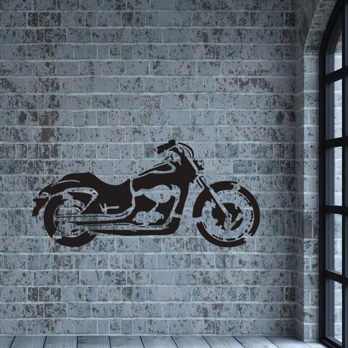 Large Harley Davidson motorbike on the wall