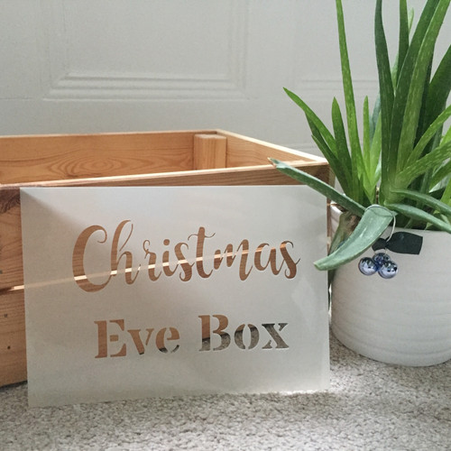 Christmas Eve Box Stencil