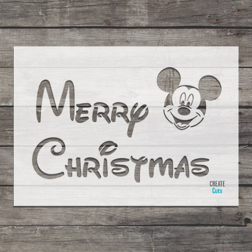 Merry Christmas Stencil Disney Style