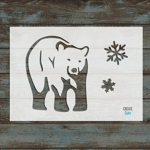 Christmas Bear Stencil