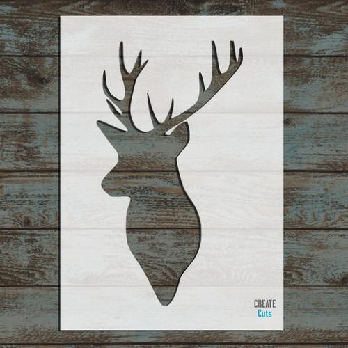 Deer Head Siluethe Stencil