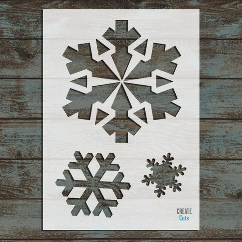 Set of Christmas Snowflakes Stencil
