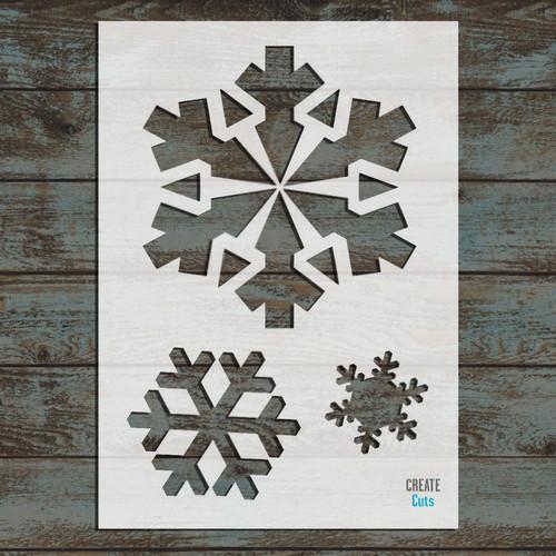 Set of Christmas Snowflakes Stencil