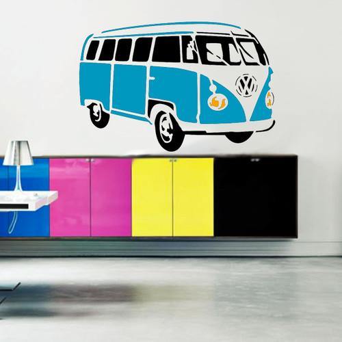 Large wall Volkswagen Camper Stencil