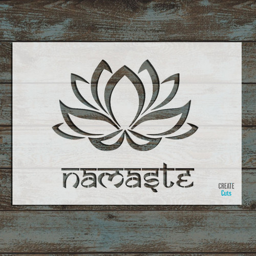 Namaste Lotus Flower Stencil