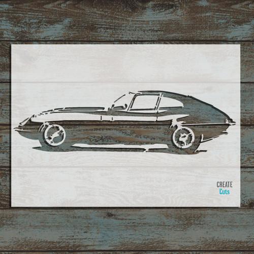 Jaguar E-type Vintage Car Stencil