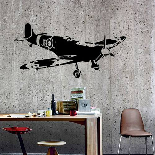 Spitfire Large Wall Stencil