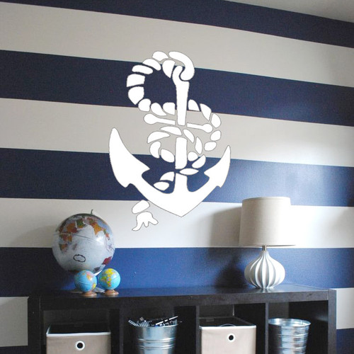 Large Anchor Stencilled on the wall