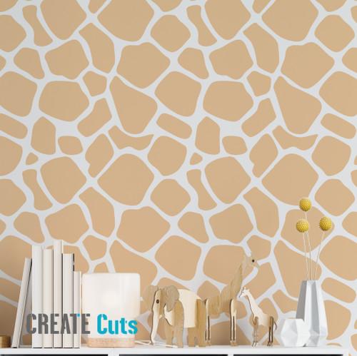 Giraffe pattern wall stencil