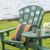 Hibiscus Flower Stencilled outdoor chair