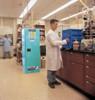 Justrite Corrosive Cabinet in Use