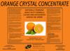 Orange Crystal Powder Degreaser Concentrate Label