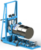 Load one drum onto the open end of your Stationary Drum Roller with a MORStack Drum Racker  611 LOAD 1-5154