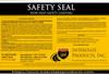 Non Slip Coating Safety Seal 20-33