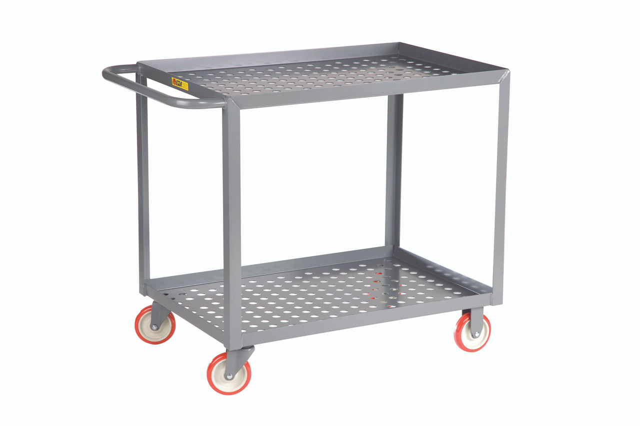 Welded Service Cart w/Perforated Deck