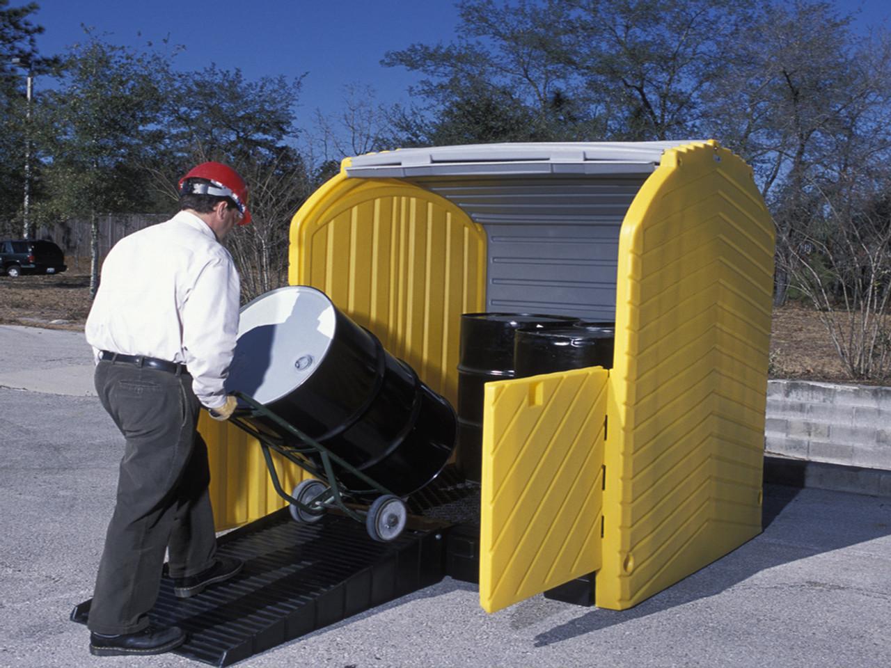 Outdoor Drum Storage