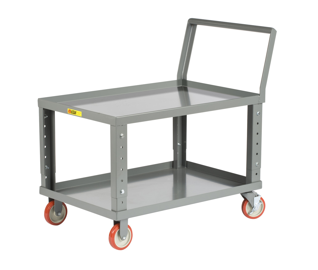 Ergonomic Adjustable Height Shelf Truck