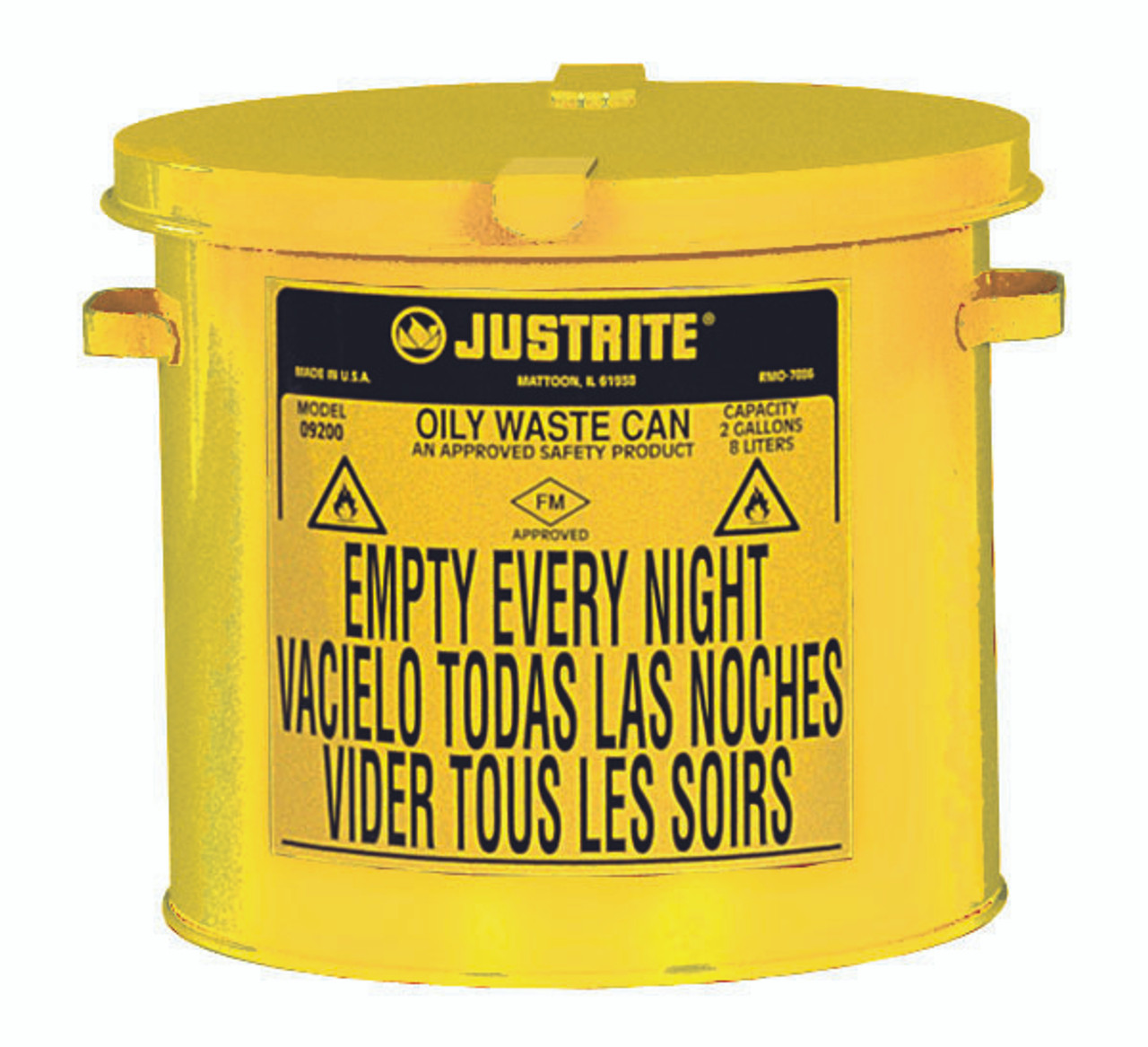 Justrite Countertop Oily Waste Cans