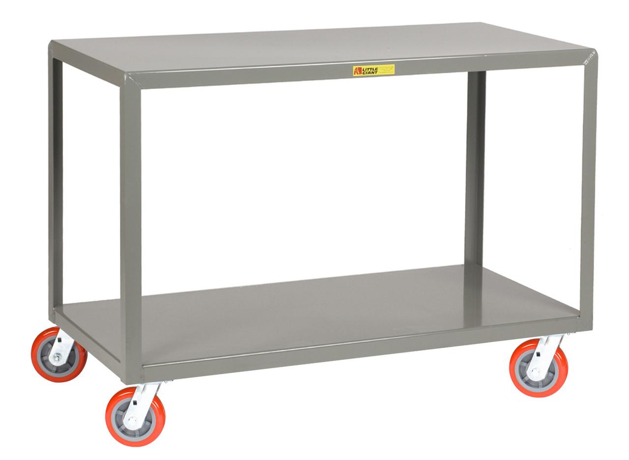 Mobile Tables - 2 Shelves