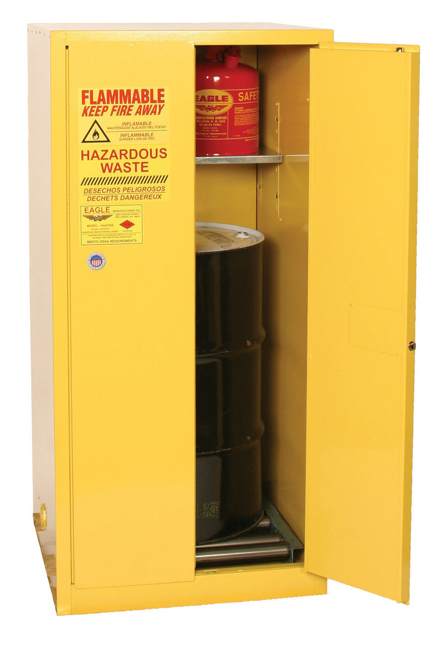 Eagle Flammable Drum Storage Safety Cabinet 55 Gal Manual Close