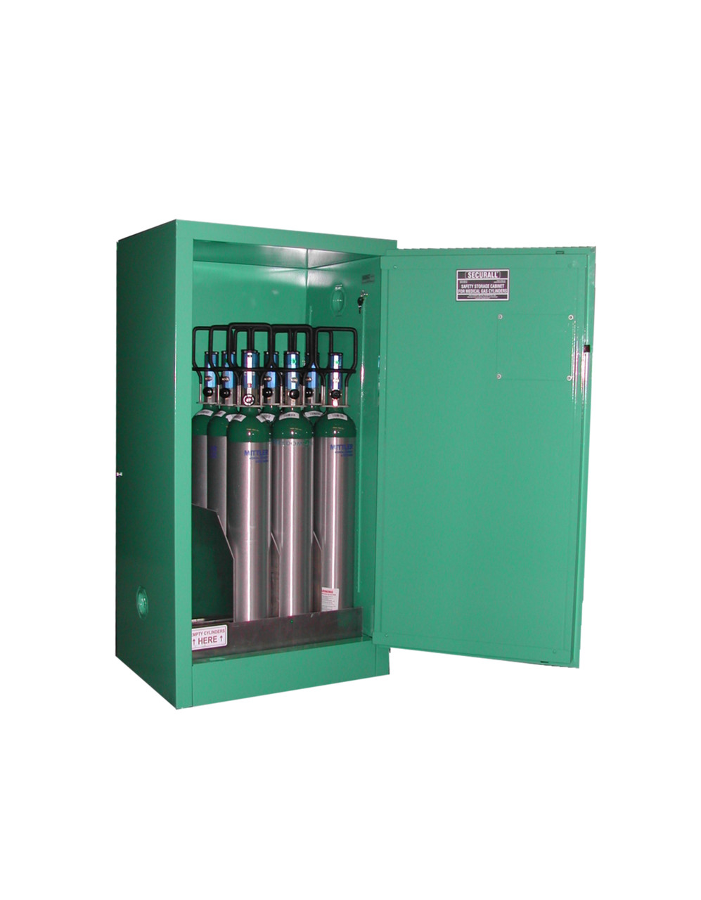Securall Medical Gas Cylinder Cabinet Fire Lined 9 12