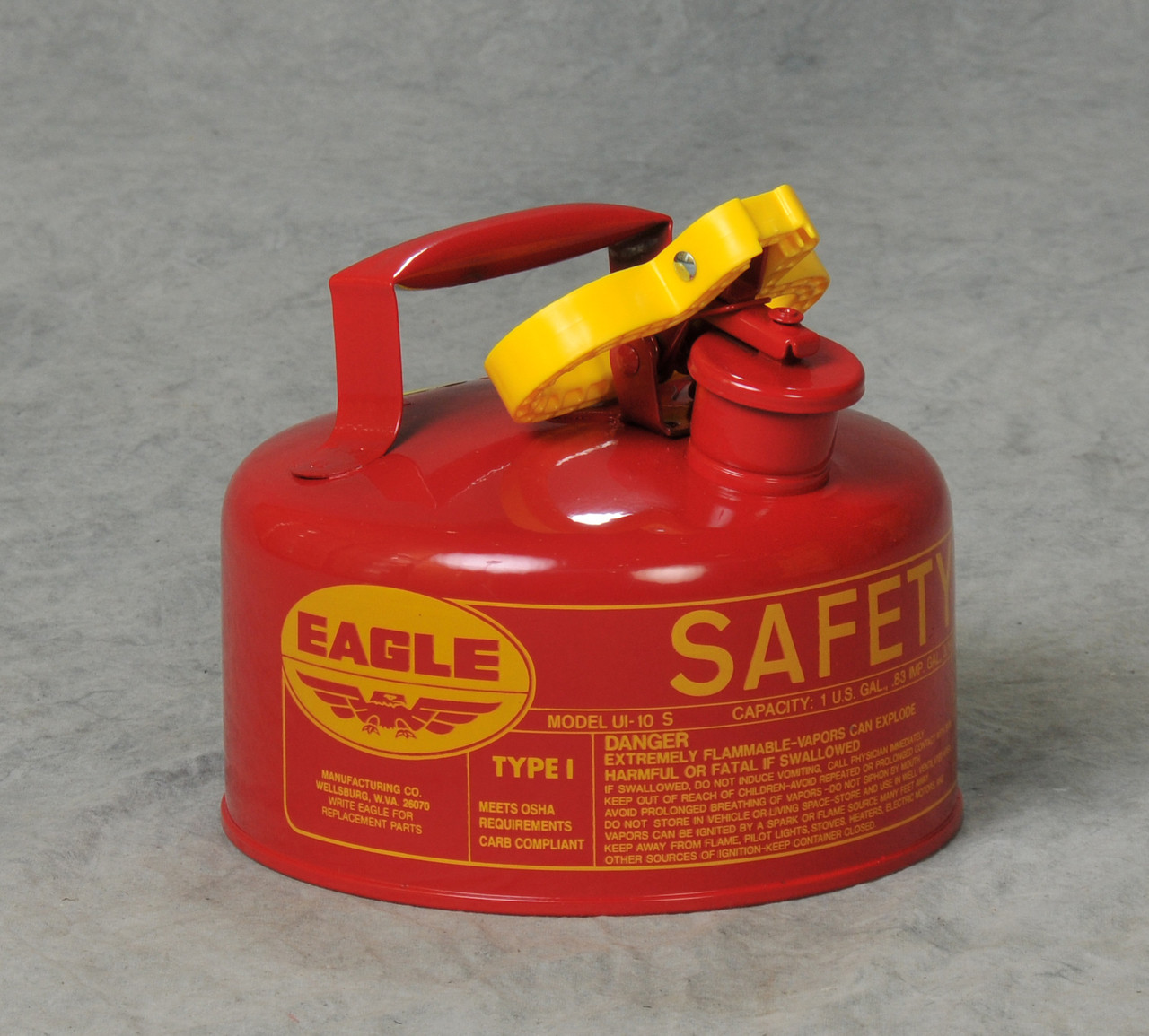 Safety Gas Can >> Eagle Ui 10 S 1 Gallon Red Metal Gas Can