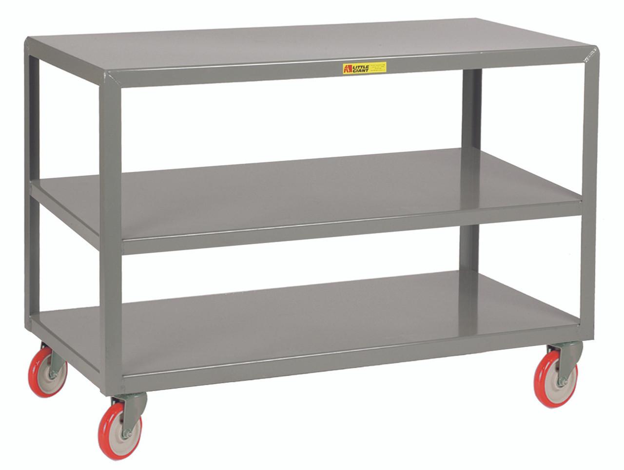 Little Giant Mobile Table - 3 Shelves, 24x36, 1200 lb Capacity